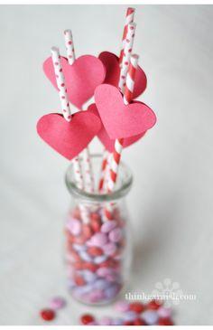 Pajitas monísimas para San Valentín / Cute straws for Valentine's Day