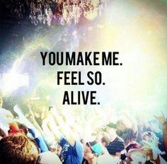 Yup. I make myself feel alive.