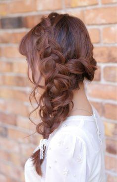 編み込みワンサイド♪   神奈川県・元町・石川町の美容室 hair coucouのヘアスタイル   Rasysa(らしさ)