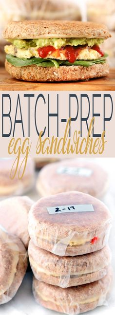 How To Batch Prep Breakfast Sandwiches for the entire week (or even month) so that you have a healthy grab-n' go breakfast option. via @Simply Sissom