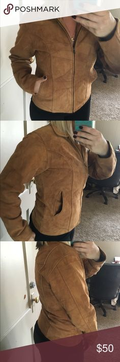 """Gorgeous patch work vintage leather zip up Metal claw teeth zipper 18"""" pit to pit 23"""" long Vintage Jackets & Coats"""