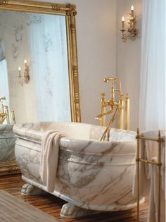 Bathroom - Marble tub.......pure lux.