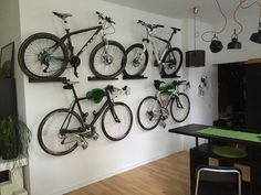 Bike Storage, Bike Rack, Storage Ideas, Sick, Mountain, Bicycling, Bicycles,  Organization Ideas, Bike Floor Stand