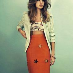 Bra Top And High Waisted Skirt