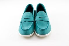 Traditional Aurland shoe in turquoise leather.  From Norway with love.
