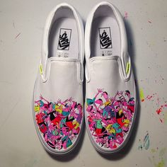 Vans / From @punksgitcut | Here's some Vans I painted