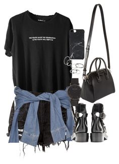 """""""Untitled #1293"""" by ruhika29 ❤ liked on Polyvore featuring River Island, Larsson & Jennings, MANGO, Givenchy and Native Union"""
