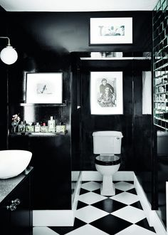 Modern Cloakroom Ideas: Cloakrooms & Powder Rooms Decor Inspiration They may be the smallest rooms in the house but they're perfect for experimenting with bold style & wallpaper. Get inspired by these modern cloakroom ideas Art Deco Bathroom, Bathroom Colors, Bathroom Sets, White Bathroom, Bathroom Interior, Modern Bathroom, Small Bathroom, Dark Bathrooms, Bathroom Stuff
