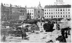 Stary Stary Kleparz na widokówce wydanej w 1908 r