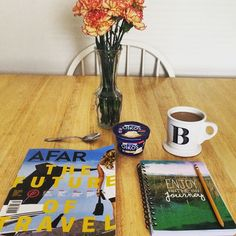 Happy Tuesday! #afarmagazine #coffeeandbooks #afternoondelight #springflowers #bookstagram #wanderlust #love #happy #traveldeeper