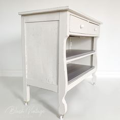 *edit* {SOLD} I love empire style furniture! This little sweetie got a makeover in a custom blend of Amulent… Upcycled Furniture, Furniture Projects, Furniture Makeover, Vintage Furniture, Cool Furniture, Painted Furniture, White Furniture Inspiration, Wood Dresser, Empire Style
