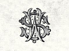 Initials Monogram by Steve Wolf