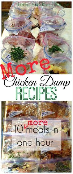 10 Chicken Freezer Meals in an hour