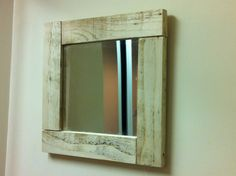 Rustic wooden framed mirror  Handcrafted from by Tillyrosedesigns, $45.00
