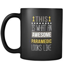 [product_style]-Paramedic This is what an awesome paramedic looks like 11oz Black Mug-Teelime