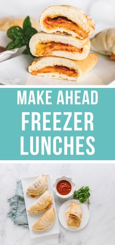 Freezer dinners are the bomb but freezer LUNCHES save the day!! You will love these easy and convenient lunches to make ahead for you and your family!! #easy #lunches #freezermeals #makeahead #mealprep   happymoneysaver.com Chicken Freezer Meals, Freezer Friendly Meals, Make Ahead Freezer Meals, Freezer Food, Freezer Recipes, Frugal Meals, No Dairy Recipes, Foods With Gluten, Baby Food Recipes