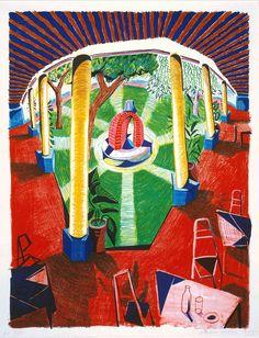 David Hockney, 'Views of Hotel Well III' 1984-5