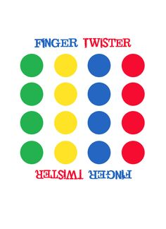 Finger twister and images can be copied and printed. Motor Activities, Therapy Activities, Activities For Kids, Finger Gym, Class Games, Classroom Games, School Counseling, Social Skills, Game Of Life