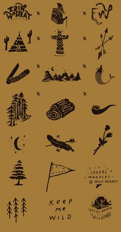 Erin Wheat - Brand Inspo - Love the lettering and these hand drawn icons to supplement the brand – Nicolás Crespo - Lettering Design, Branding Design, Logo Design, Design Web, Type Design, Hand Drawn Logo, Hand Logo, Wheat Drawing, Flower Art