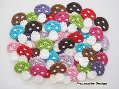 Multicolor Crochet Mushrooms