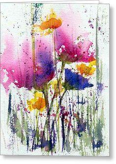Meadow Medley Greeting Card by Anne Duke