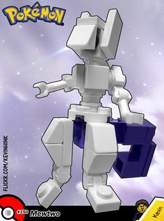 It was created by a scientist after years of horrific gene splicing and DNA engineering experiments. *************** We need your support on the LEGO Pokémon project! Also known as Pokémon Brick Ve. Lego Pokemon, Pokemon Mewtwo, Lego Boards, Lego Minecraft, Cool Lego Creations, Diy Projects For Kids, Lego Design, Lego Models, Lego Instructions