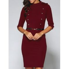 SHARE & Get it FREE | Belted Double-Breasted Work Sheath DressFor Fashion Lovers only:80,000+ Items • FREE SHIPPING Join Twinkledeals: Get YOUR $50 NOW!