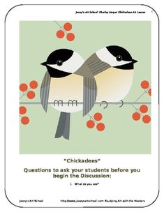 """THIS LESSON COMPLIES WITH MANY ELA COMMON CORE STANDARDS. This lesson is ELA Common Core Compliant Charley Harper """"Chickadees"""" -Art Discussion -Questions to ask your students -Biography of artist -ELA Common Core Compliance information Welcome to a fun and easy way to teach Art Masterpiece/Contemporary Art inspired art classes to your 5-12 year Joy Art, 3rd Grade Art, Charley Harper, Fun Arts And Crafts, Kindergarten Art, Bird Illustration, Art Lesson Plans, Teaching Art, Art Lessons"""