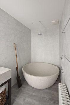Baignoire vai Ma Petite Fabrique cement bathroom