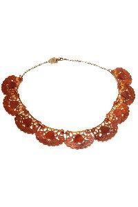Lace Doily Necklace - Tortoiseshell £81 (sale £56.70) - SS10 Sundae Best