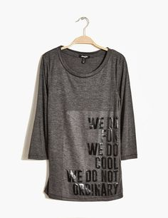 Tee-shirt imprimé gris anthracite