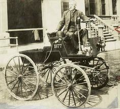 George Selden and his 1877 Automobile from NYC Library Archives Real Photo