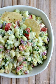 Mouthwatering yumminess with every bite, this fresh Cucumber Avocado Salsa will easily become a favorite. Substitute sour cream with plain yogurt!