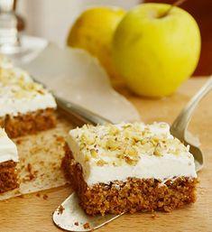 Candy's: Almás-zabpelyhes piskóta krémsajttal Diabetic Bread, Diabetic Recipes, Vegan Recipes, Hungarian Desserts, Hungarian Recipes, Cake Recipes, Dessert Recipes, Sweet Cakes, Healthy Snacks