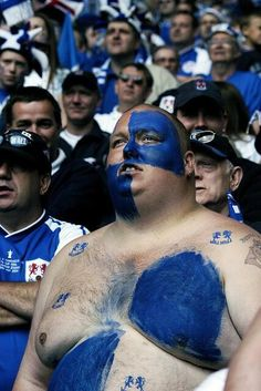 Horrible scenes in the Millwall end at the football yesterday.