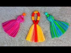 Knitting Patterns Pillow DIY Tutorial How to Make a Tassel - Tassels Tassle Tassles Borlas - Easy Simple Loom Knitting, Knitting Patterns, Crochet Patterns, Sewing Patterns, Knitting Stitches, Crochet Ideas, Diy Tassel, Tassel Jewelry, Tassel Garland