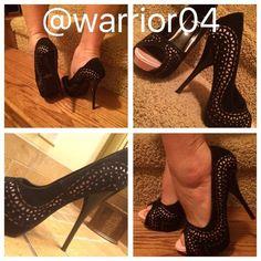 HP 3/21/16 Shiek Black and Pink Heels Shiek Black and Pink Heels / height of heels  measures 4.5 inches Shiek Shoes Heels