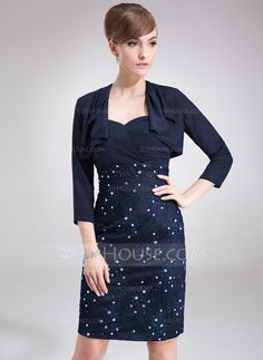 3/4-Length Sleeve Chiffon Special Occasion Wrap (013012263) - JJsHouse