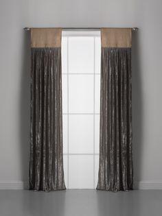 Couture Dreams Luscious Soft Earth Window Curtain