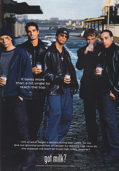 Backstreet Boys for Milk | 20 Dated Celebrity Endorsements From Over A Decade Ago