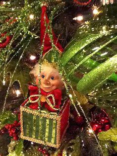 RAZ Elf Jack in the Box Ornament Set of 2 from the Merry Mistletoe Collection   #trendytree #raz #elf