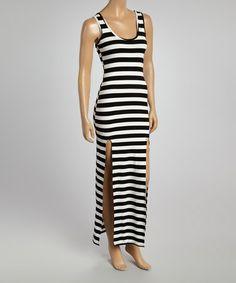 Look what I found on #zulily! Black & White Stripe Maxi Dress - Women #zulilyfinds