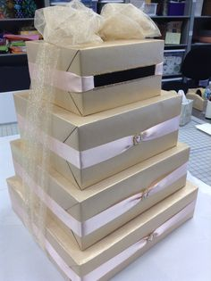 Gift card box created by Lisa's Gift Wrappers.