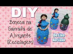 (DIY) Boneca na Garrafa de Alvejante - Boneca Peso de Porta (Papietagem e Biscuit) - YouTube