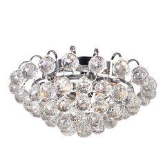 Joanne 3-light Chrome/ Crystal Ball Flush Mount | Overstock.com Shopping - The Best Deals on Flush Mounts