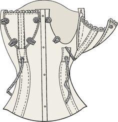 Pop a pastie... breast feeding corset!