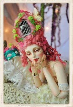 Mohair Wig for BJD Ball Jointed Doll by Sutherland Rococo Style