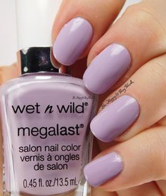 Wet N Wild Megalast Spring into the Wild Lay Out In Lavender | Be Happy And Buy Polish http://behappyandbuypolish.com/2016/03/05/wet-n-wild-spring-into-the-wild-nail-polish-swatches-review-plus-comparison/