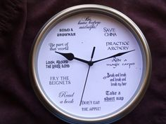 Disney Princesses-inspired clock 8.75 inches von LetterThings