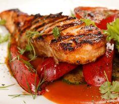 Kurczak grillowany z warzywami (papryka, cukinia)